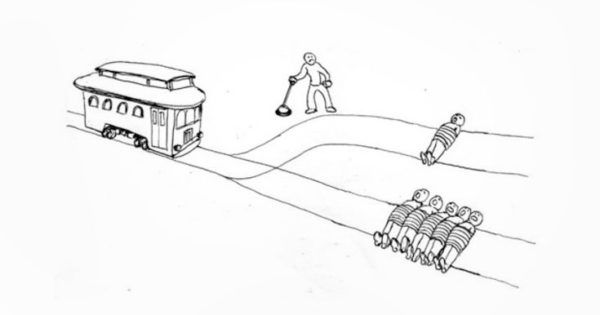 "How Would a Buddhist Monk Solve the Classic ""Trolley Problem""? https://www.lionsroar.com/how-would-a-buddhist-monk-solve-the-classic-trolley-problem/"