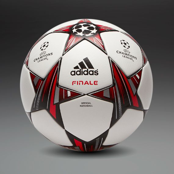adidas Footballs - adidas Finale 13 Official Match Ball - Football Balls - White-Black-Metallic Silver