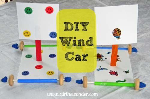 DIY Wind Car: Science Lesson & Fine Motor Fun - Stir The Wonder