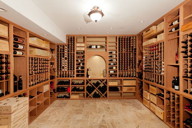 A Wine Cellar.  Probably not this big but, I love the idea and the design!