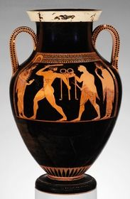 vörös alakos váza - görög