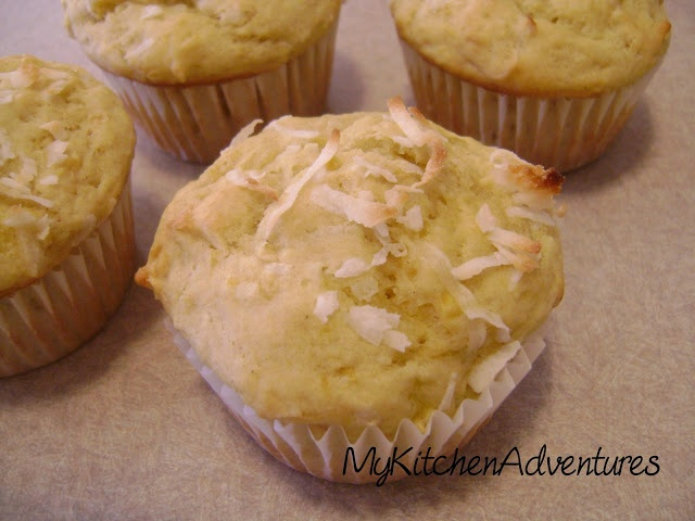 Pineapple, Coconut & Mango Muffins Replace 3/4 of flour w whole wheat ...