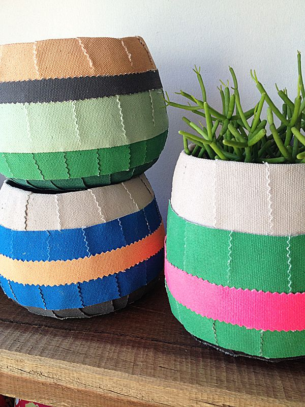 Colourline Pots from The Small Garden via The Third Row