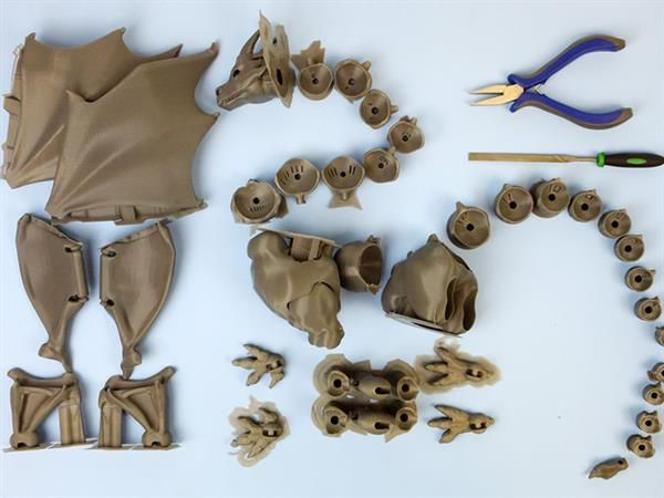3ders.org - 3D print your own 42-piece fully-articulating dragon | 3D Printer News & 3D Printing News
