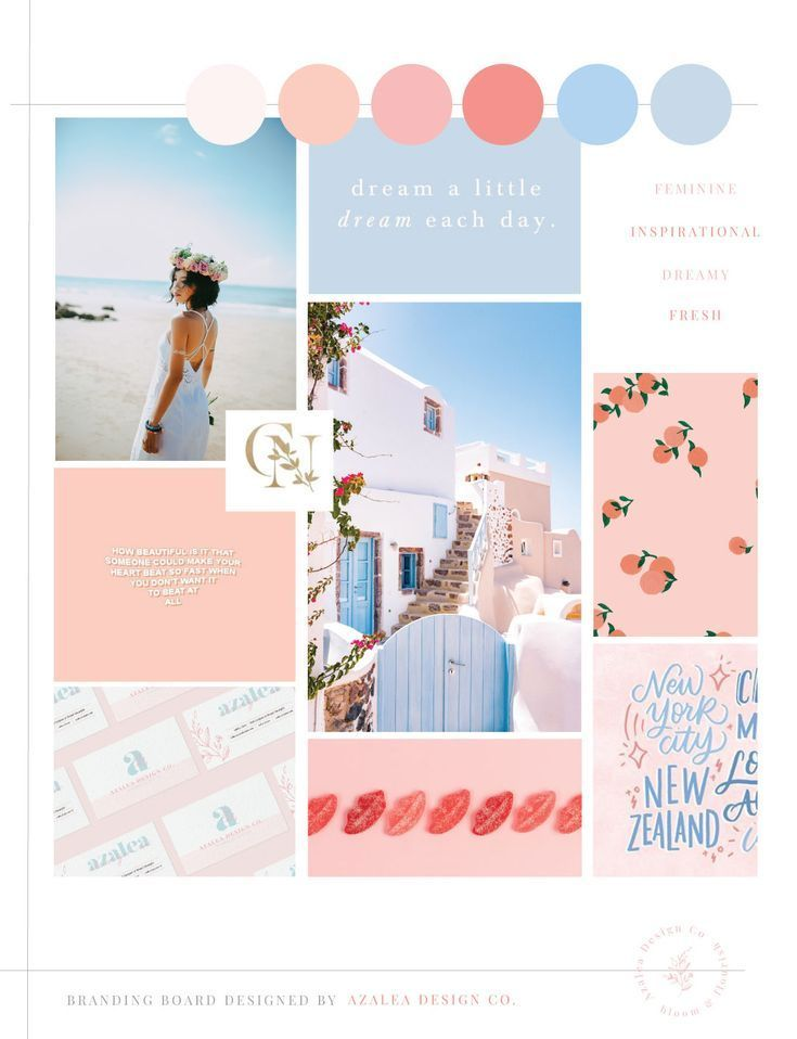 Feminine Showit Web Designer For Creative Entrepreneurs Azalea Design Co In 2020 Branding Mood Board Inspiration Mood Board Design Branding Mood Board