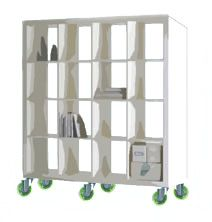 Putting Wheels On A Simple Bookshelf Transforms It Into An Essential Room Divider With Element