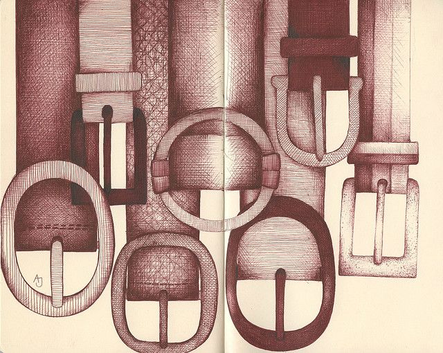 belt up by andrea joseph's illustrations, via Flickr