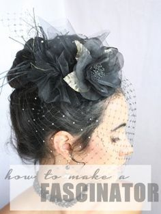 How to Make a Fascinator! The easy way.                                                                                                                                                                                 More