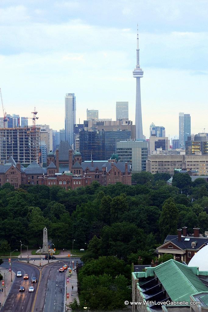 View of Toronto from Park Hyatt Rooftop