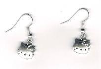 Hello Kitty Tibet Silver Earrings (FREE SHIP) $3.75