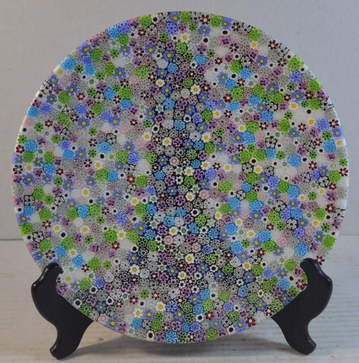 Vintage Murano Millefiori Art Glass Dish