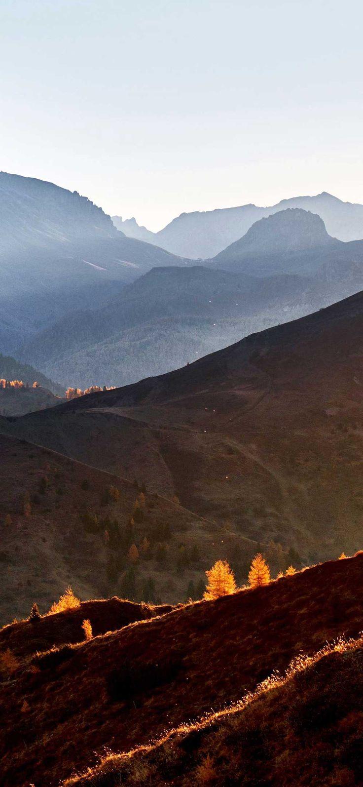 Iphone Pro Wallpaper Giau pass mountain pass fall sunset