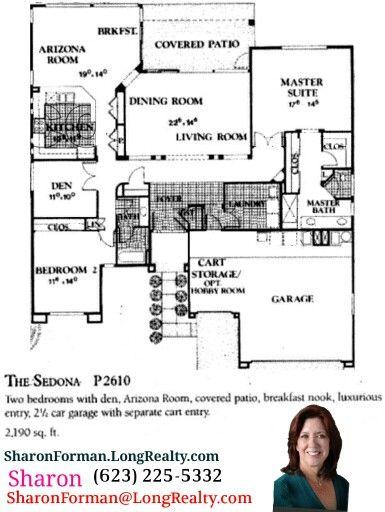7 best Sun City West, AZ Floor Plans images on Pinterest | Floor ...