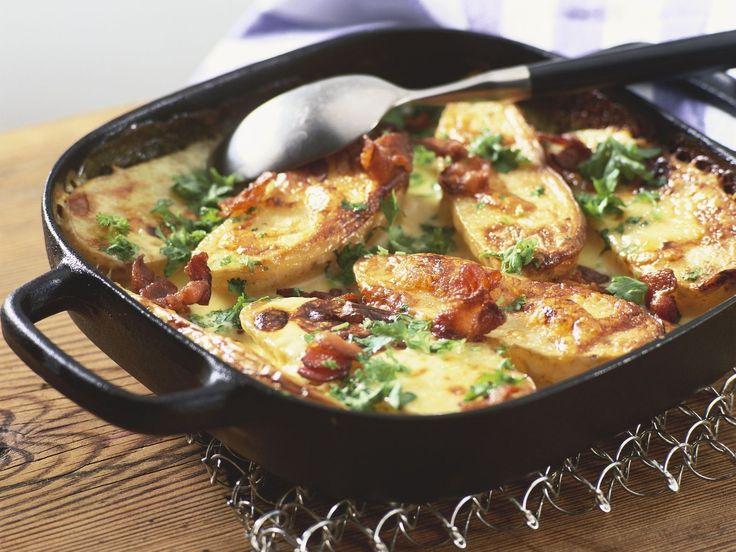 Ofenkartoffeln mit Speck und Käse