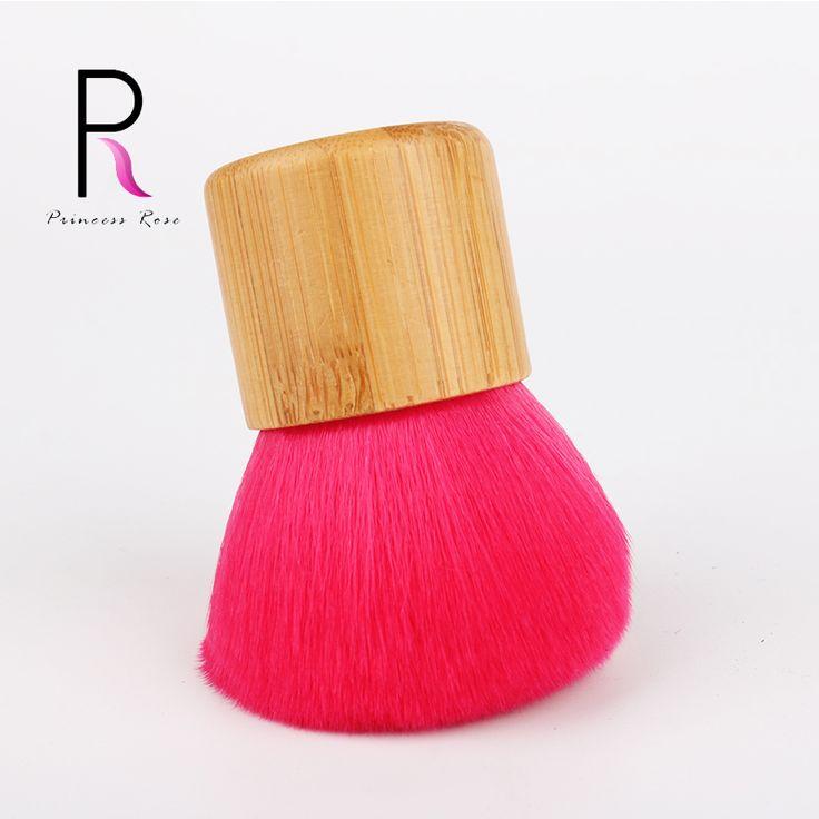 1 adet Profesyonel Bambu Kolu Makyaj Fırçalar Makyaj Kabuki Fırça Vakfı Allık Pudra Fırça Pincel Pinceaux Brochas BRD04