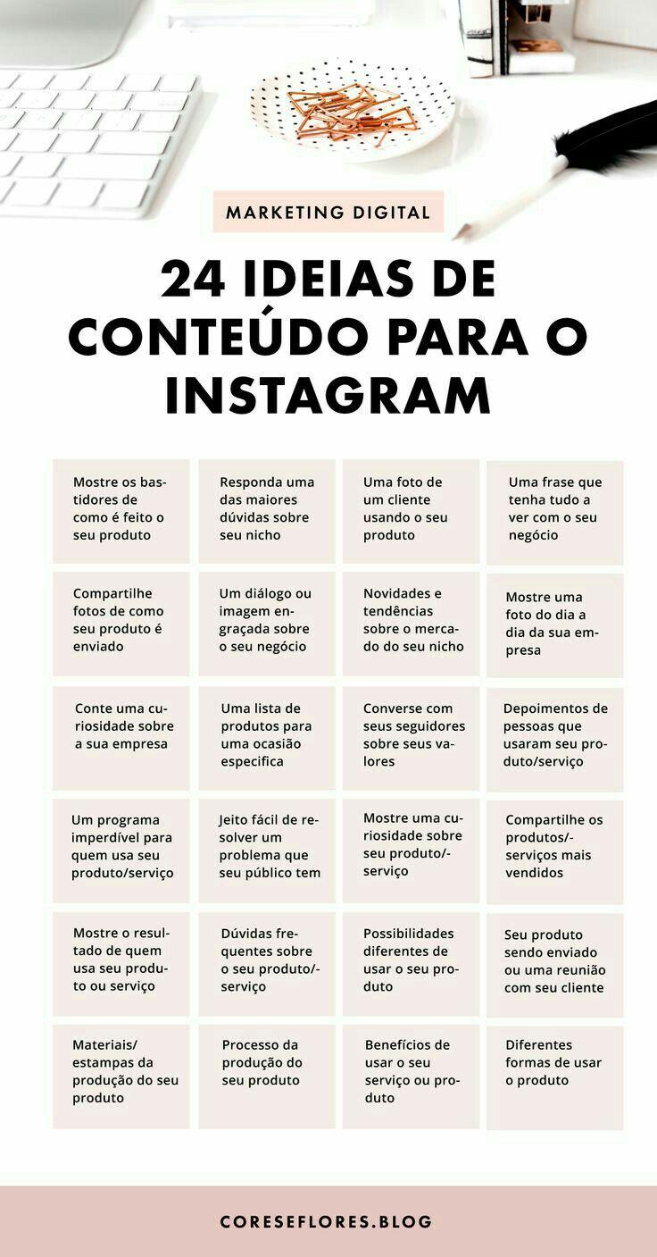 24 Ideias Para Conteudo Para O Instagram Em 2020 Ideias De