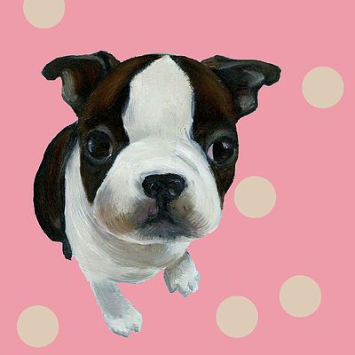 French Bulldog oilpainting