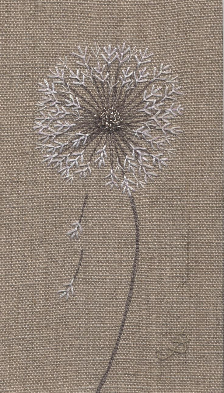 Jo Butcher, Embroidery Artist - Dandelion Clock Head