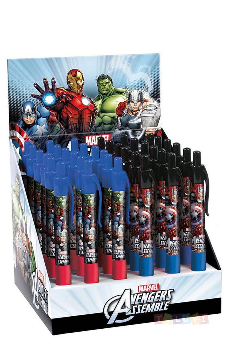 Trop top pour la rentrée ! Stylos Avengers rouge/bleu   D'autres modèles sont disponibles dans notre boutique en ligne. #Toluki