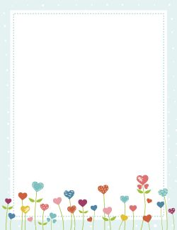 Heart Flower Border