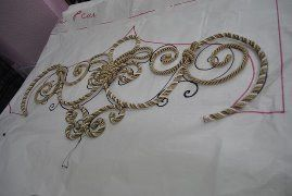 details of rope trim for cornices