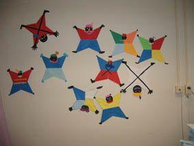 Knutselactiviteit: Zwarte piet van vliegers