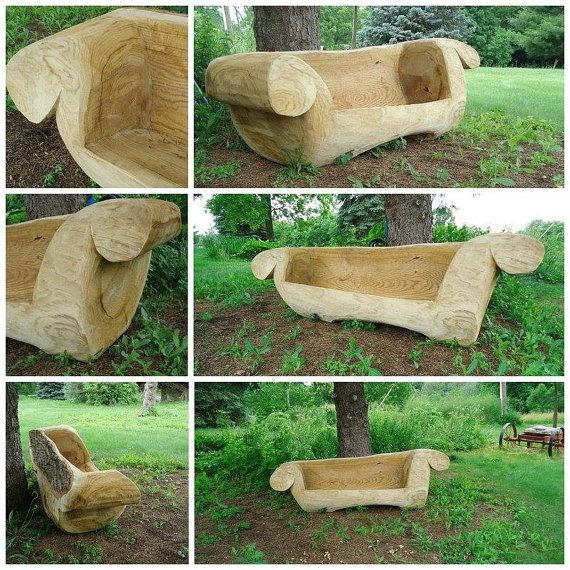 Crooked furniture chainsaw carving couch sofa on etsy
