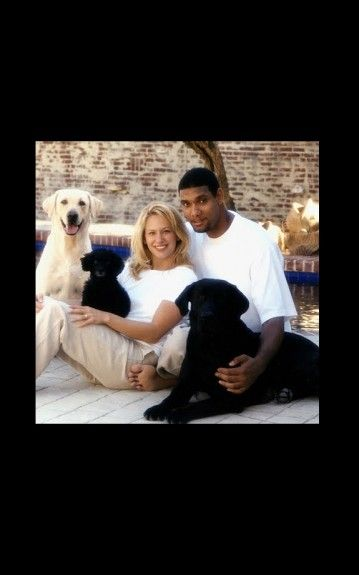 Tim Duncan and Wife Amy, great couple, love this picture!