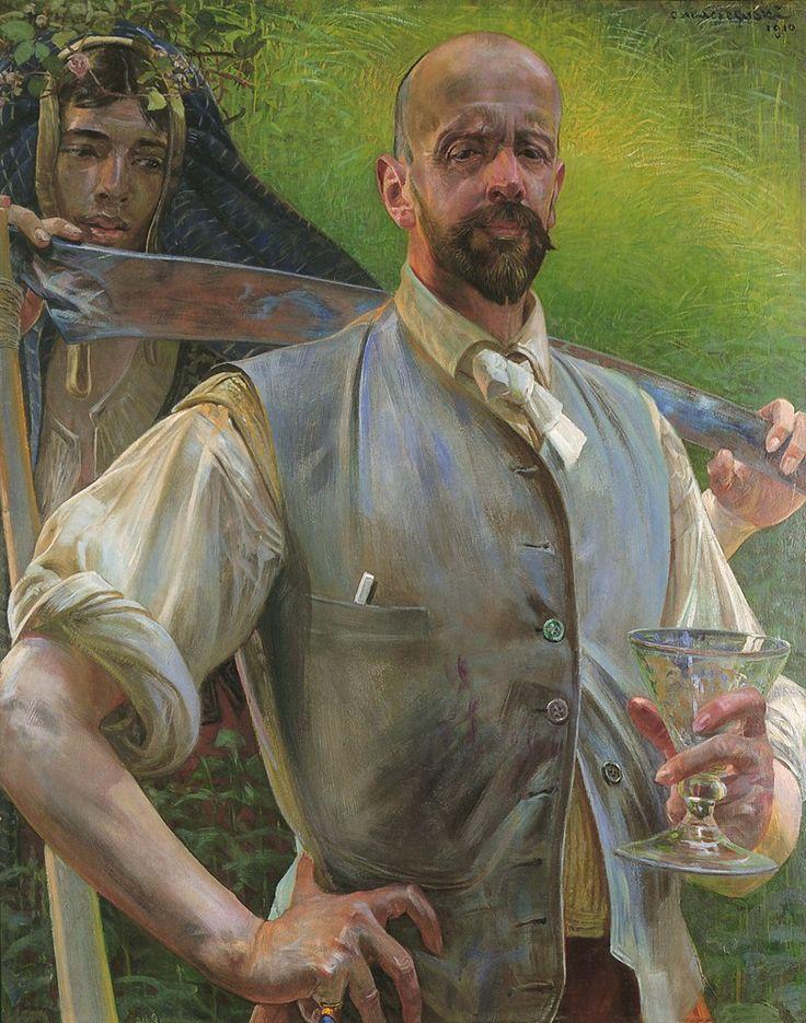 """""""Self Portrait with Death"""" by Jacek Malczewski"""