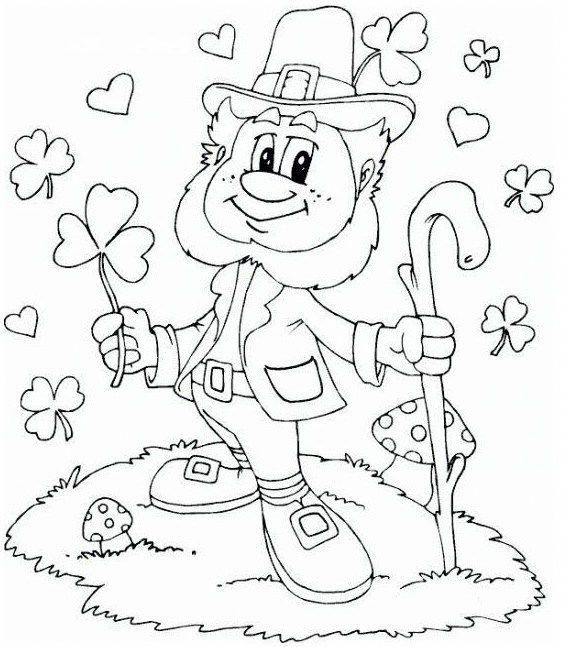 Leprechaun Fairy Of The Aos Si Coloring Sheet Stpatricksdaycrafts Valentines Day Coloring Page Coloring Pages Valentines Day Coloring