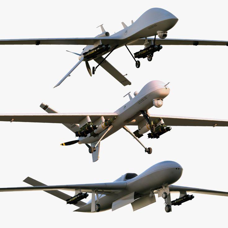 3Ds Max Unmanned General Atomics - 3D Model
