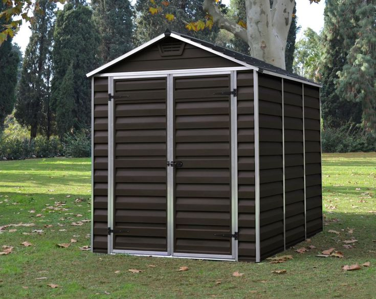 Cheap Plastic Garden Sheds - Palram 6 x 8 ft - Brown #plasticgardensheds