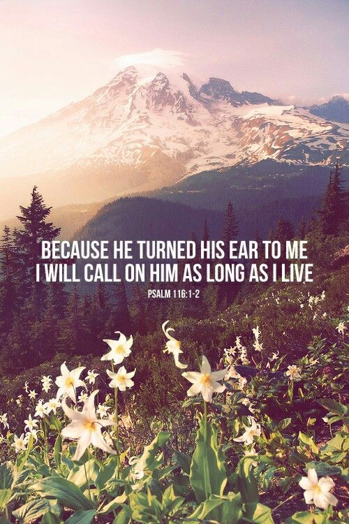 because He turned his ear to me I will call on him as long as live - psalm 116:1-2