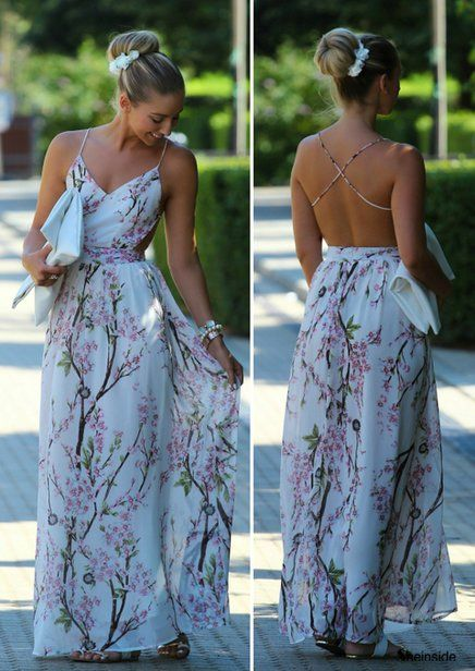 Floral maxi dress - for a day in the city or a wedding