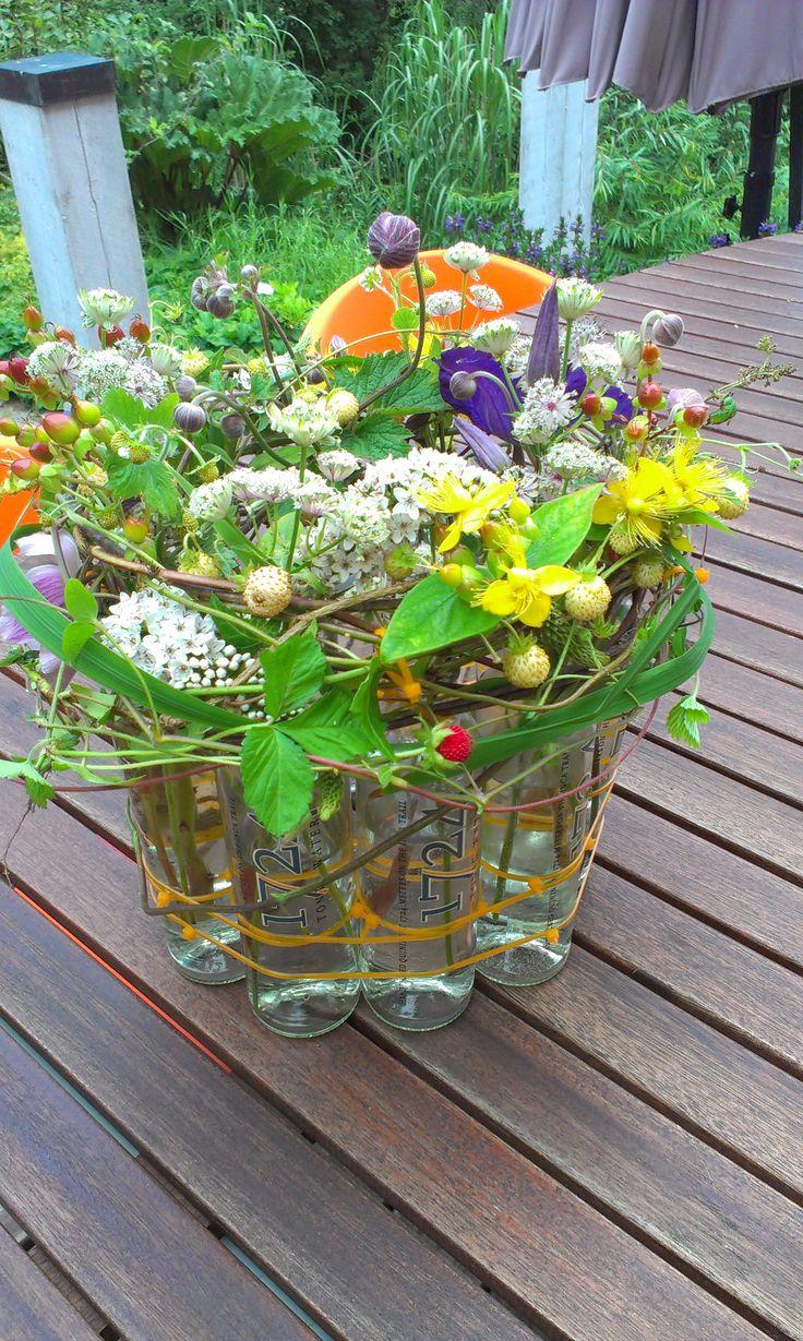 natur i flaske bordpynt