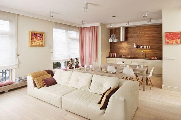 Best Small Scandinavian Apartment Open Concept Kitchen Living 400 x 300