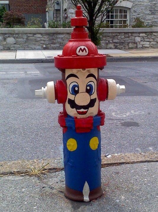Super Mario Fire Hydrant, NYC