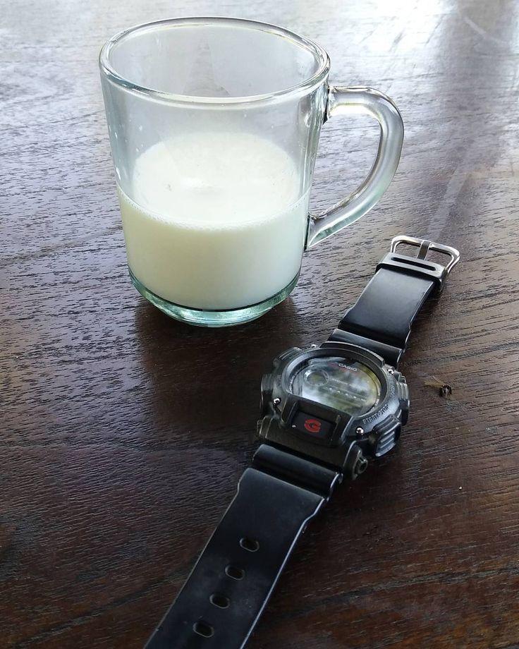 Very fresh milk straight from the farm @ Pagalengan. . . . #milk #pangalengan #bandung #farn #freshmilk #gshock #travel #outbound
