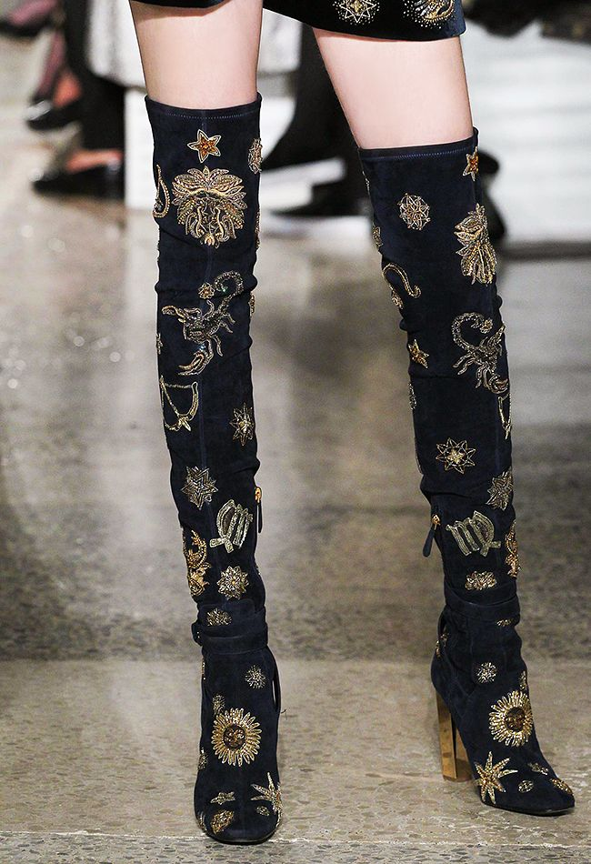 emilio pucci a/w 2015 embellished over the knee boots