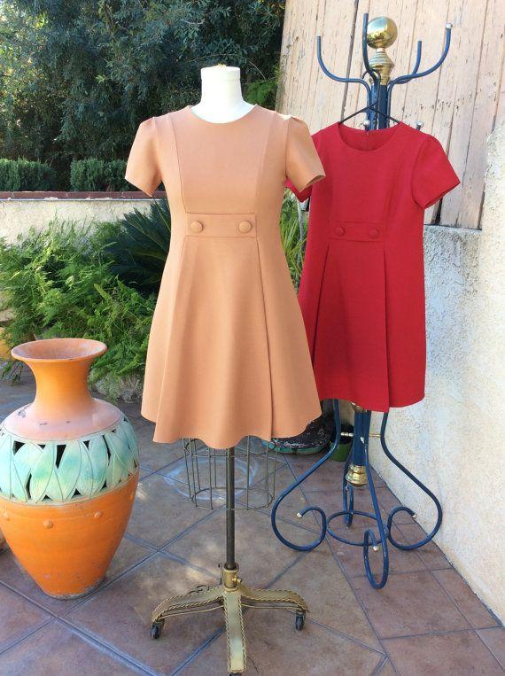 1960s dress / 60s dress / mod dress / scooter by jackieandjohnny