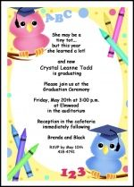 wise ole owl tot graduation announcement invitation cards as low as