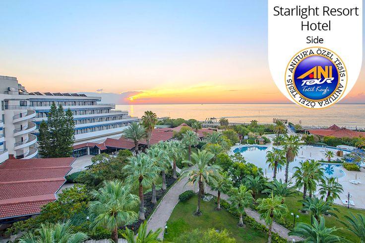 """Festival tadında bir tatil için sen de Starlight Resort Hotel'e gel! :) Birçok ünlü sanatçının sahne alacağı yaz programı ve Ultra Her Şey Dahil"""" konsepti 217 TL'den başlayan fiyatlarla seni bekliyor."""