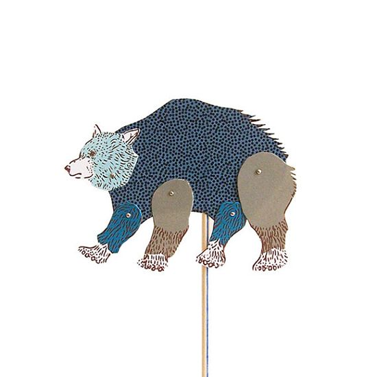 Bear DIY Paper Puppet Illustrated by With Her Animal Poetry #play