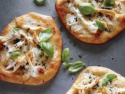 Individual White Chicken Pizzas | Make-ahead freezer meals can come in handy when you run out of dinner options. Keep a couple of these family-friendly meals stored in your freezer for easy meal planning any time.