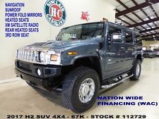 Hummer : H2 SUV 2007 h 2 suv 4 wd sunroof nav htd lth bose 3 rd seat chrome whls 67 k we finance