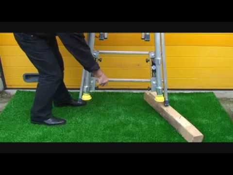 Kit Fénix de rattrapage pour echelle et échafaudage pour trottoir et jardin