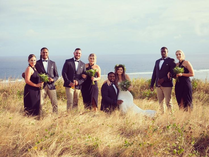 Outrigger Fiji Beach Resort Wedding Ideas Planning Inspiration Tropical Paradise Style Floral Design Planning Party Outdoor Nature Groom Bride Bridesmaids Groomsmen Bouquet Floral Grassland Serene Vintage Photography