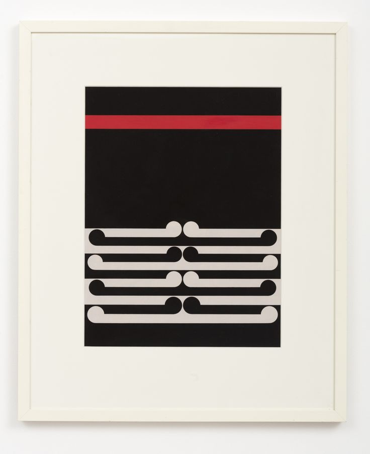 Gordon Walter, Untitled, 1978. Acrylic on paper.