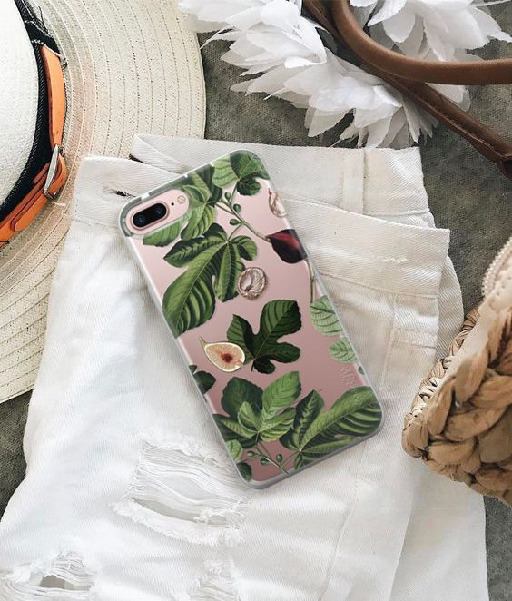 🌸Set a floral vibe everywhere you go with this Figs transparent case! 🌸 Available for many phone models! Click! #Casetify #iPhonecase