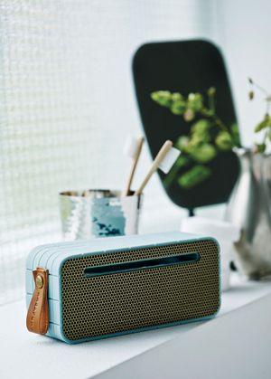 Es ideal para todos los partes de tu  casa el altavoz portátil con bluetooth de #Kreafunk #estilonordico